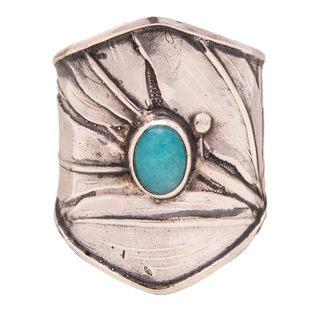 Tabra Jewelry 925 Sterling Silver Larimar Ring For Women