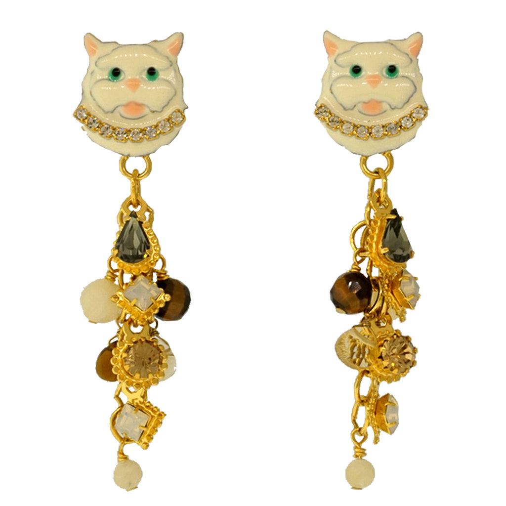 Little Kitty Post Earrings - Lunch At The Ritz Earrings