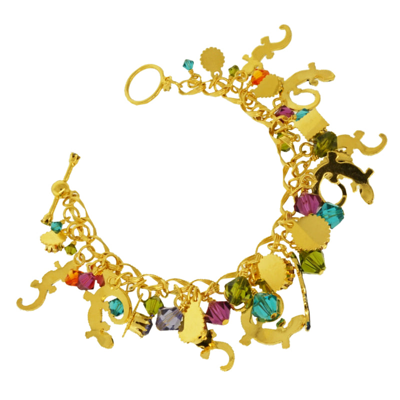 Salamanders Brunch Toggle Bracelet - Lunch At The Ritz - Back Side