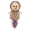 Tabra Jewelry - Antique Bronze & Faceted Amethyst Pendant