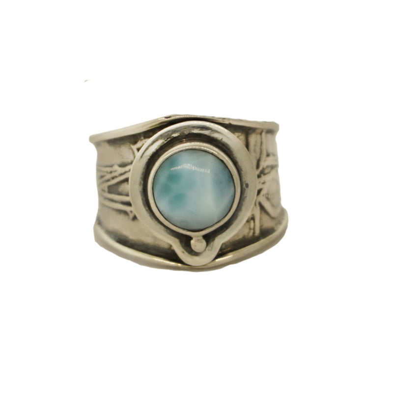 925 Sterling Silver Larimar Ring - Tabra Jewelry