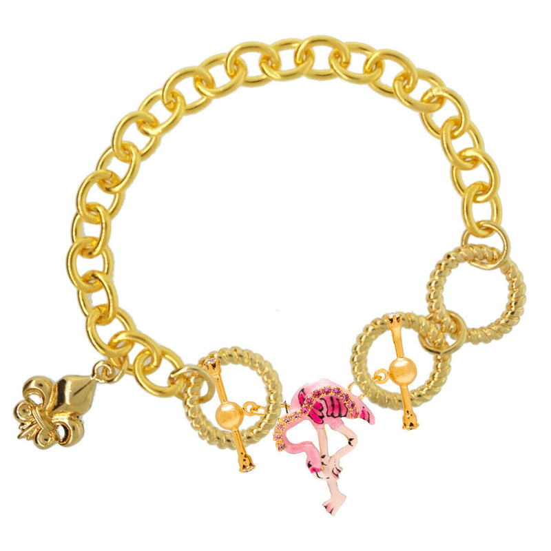 Lunch at The Ritz Bracelet Chain - Charm Bracelet Chain - Goldtone