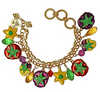Multi Color Pansy Charm Bracelet | Bracelets For Women