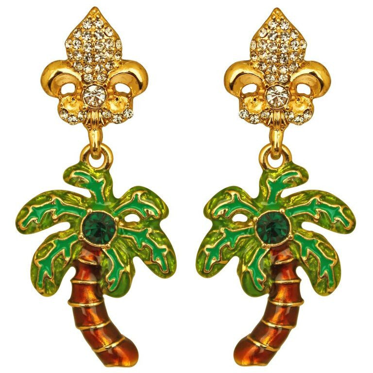 Royal Palms Tree charm Earrings - Jewelry Earrings