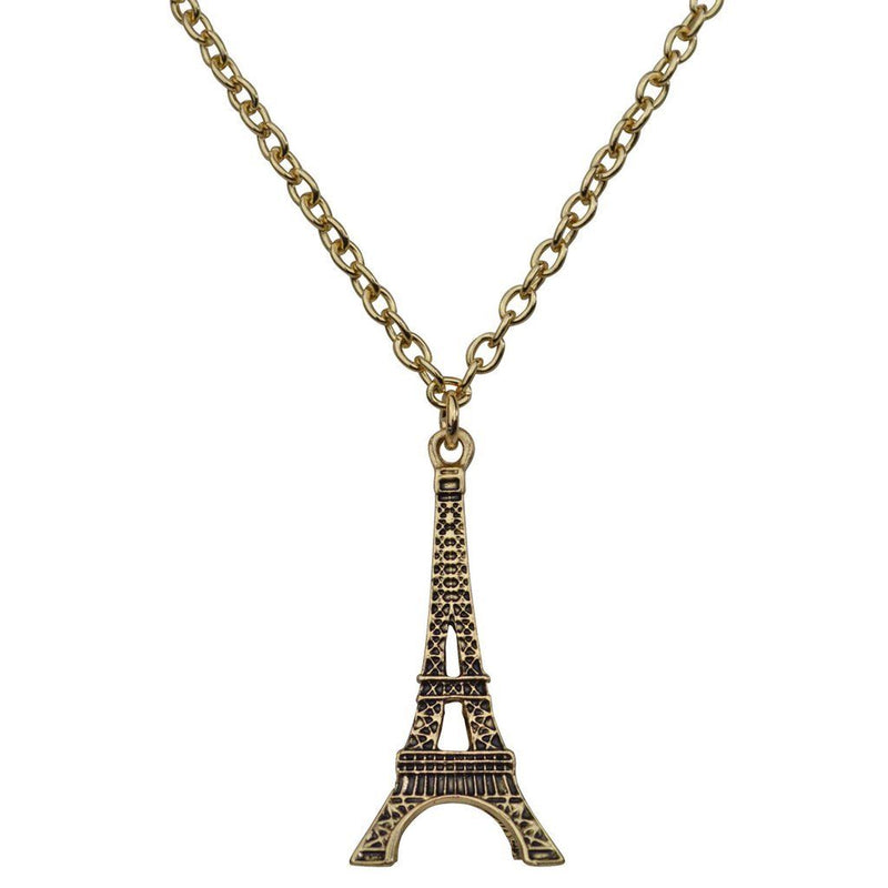 Paris Eiffel Tower Charm Necklace - Necklace Jewerly