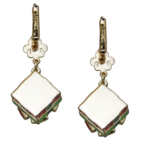 Christmas Gift Box Dangle Earrings - Christmas Earrings - Back Side