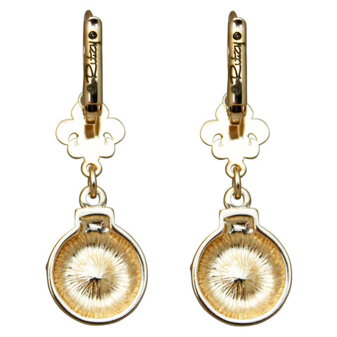 """Christmas Ornaments"" Leverback Dangle Earrings (Goldtone) Ritzy Couture"