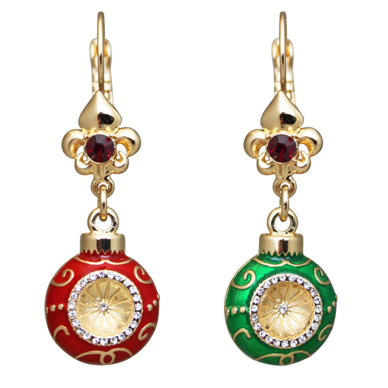 Christmas Ornaments Dangle Earrings - Christmas Earrings
