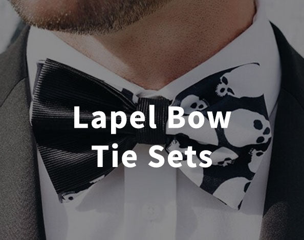 Satin or Velvet Lapels and Bow Tie Sets by The Lapel Project