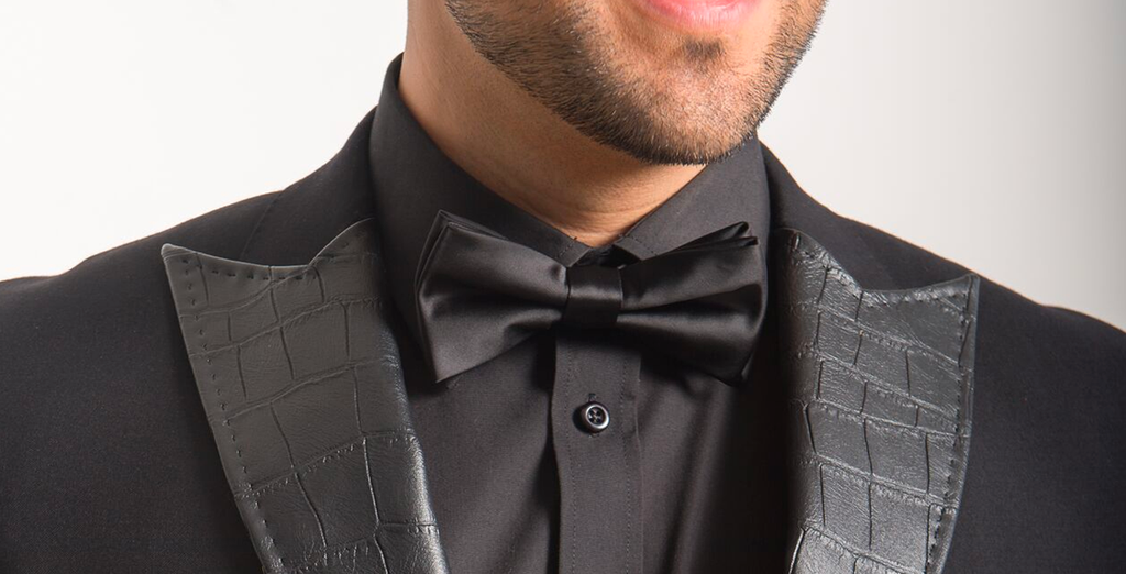 3c8f6152b6f4b Black Satin Bow Tie