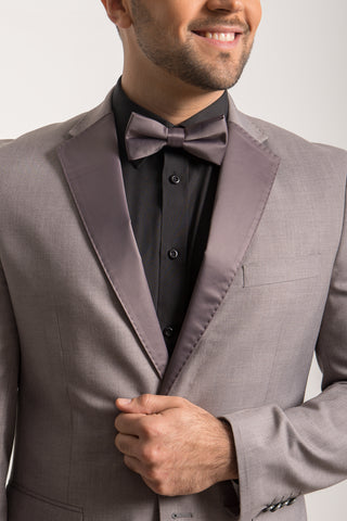 Grey Satin Lapels