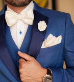 Blue Satin Lapels