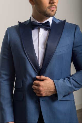 Blue Peak Satin Lapel