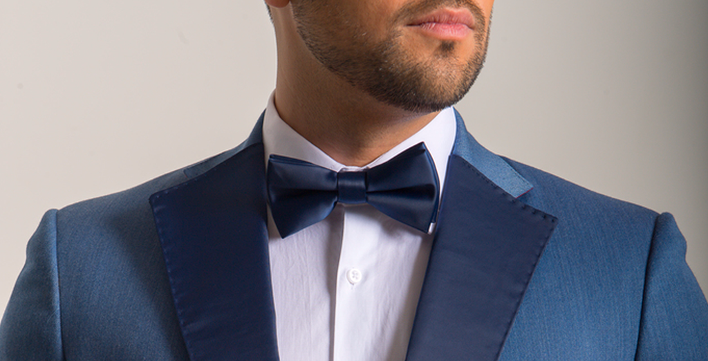 6fdce8cf3fb5 Blue Satin Bow Tie | The Lapel Project
