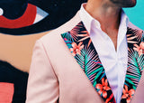 Miami's Vice Lapels from The Lapel Project wear Floral Pattern with pink flowers