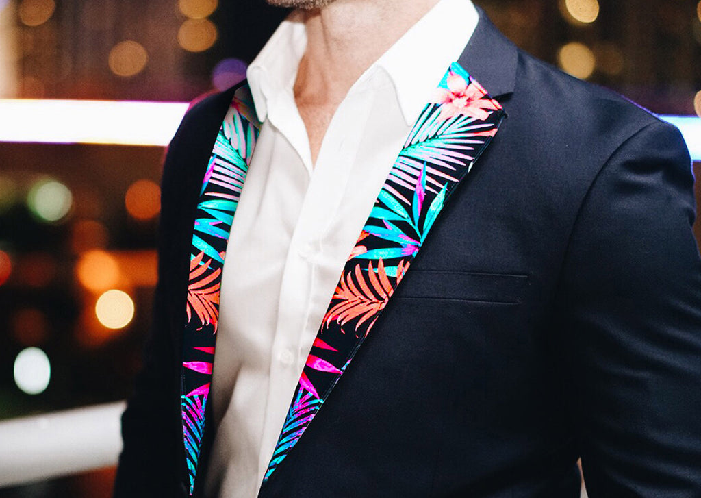 Miami's Vice Lapels from The Lapel Project wear Floral Pattern