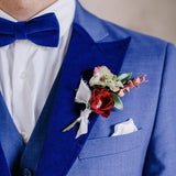 Royal Blue Velvet  Lapel set