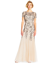 Floral Beaded Godet Gown #09189724