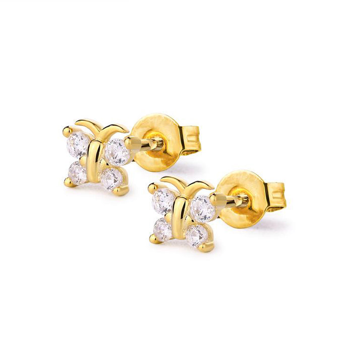 Samfa Style Butterfly Stud Earrings