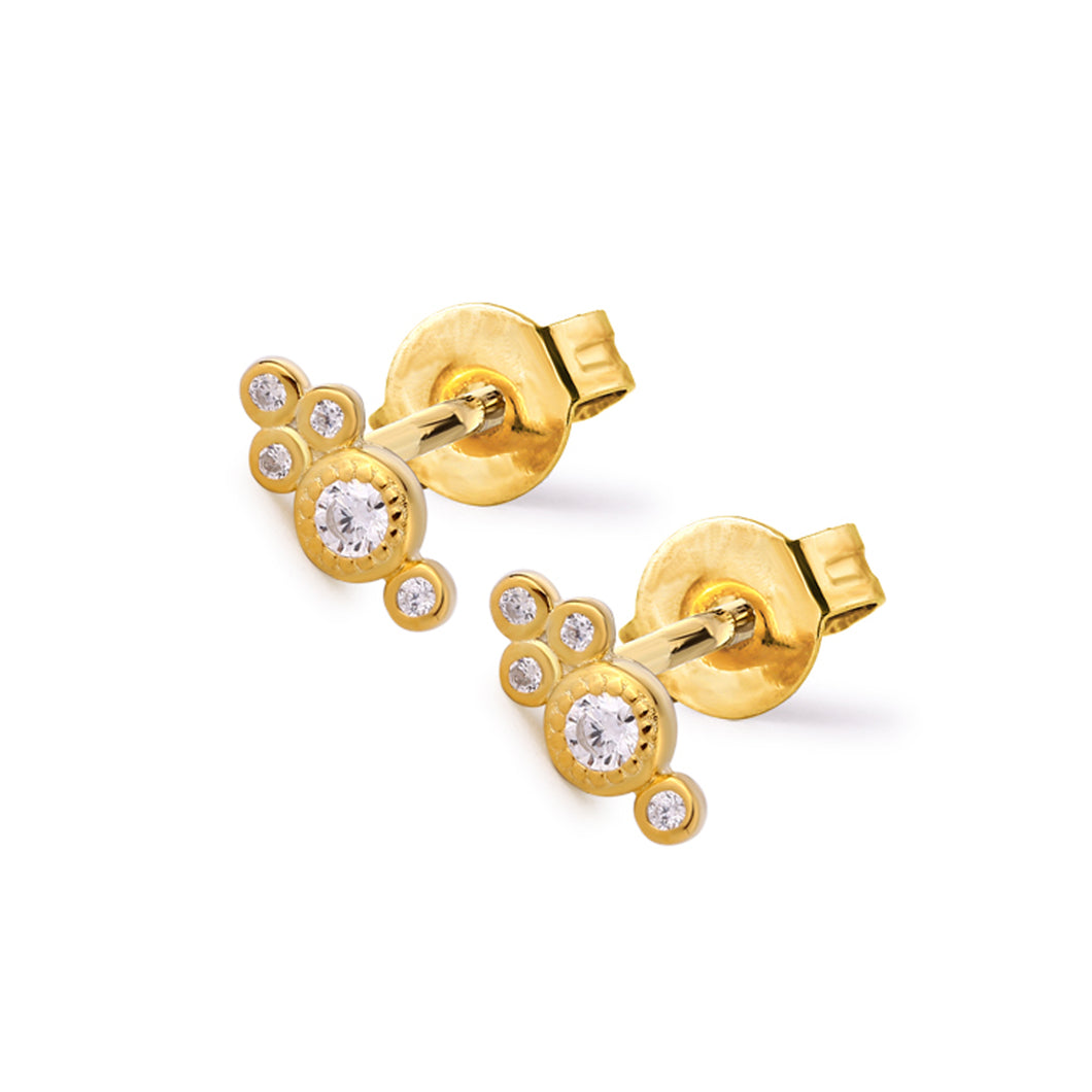 Samfa Style Embellished Stud Earrings
