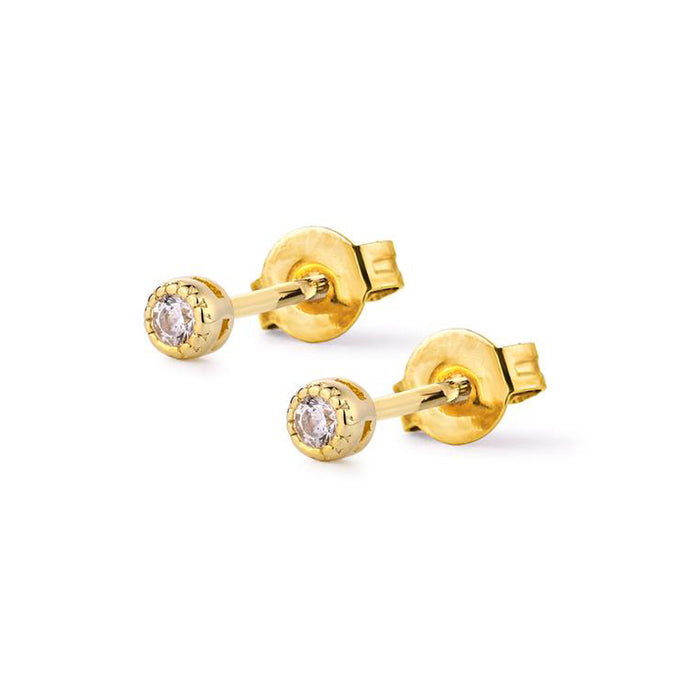 Samfa Style Tiny Diamond Stud Earrings