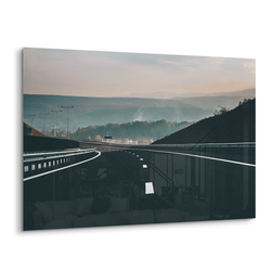 open road sunset highway acrylic photo print modern wall art