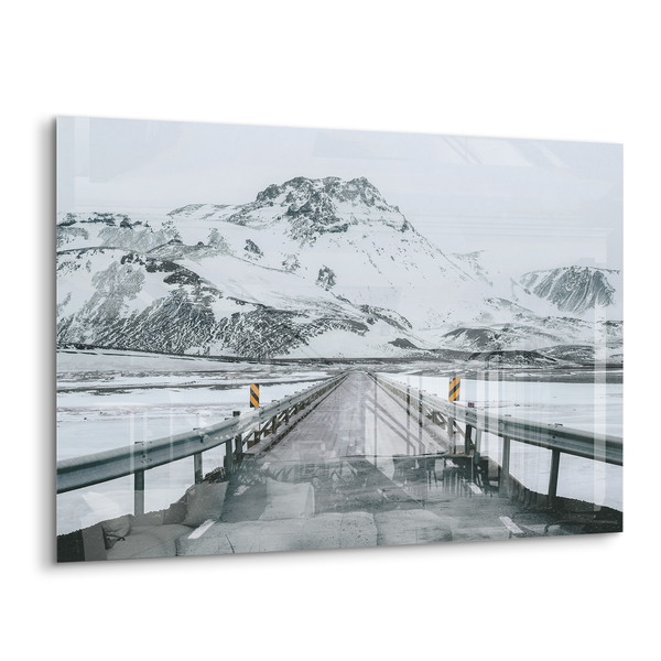 fjall snowy Iceland volcano mountain acrylic photo print modern wall art