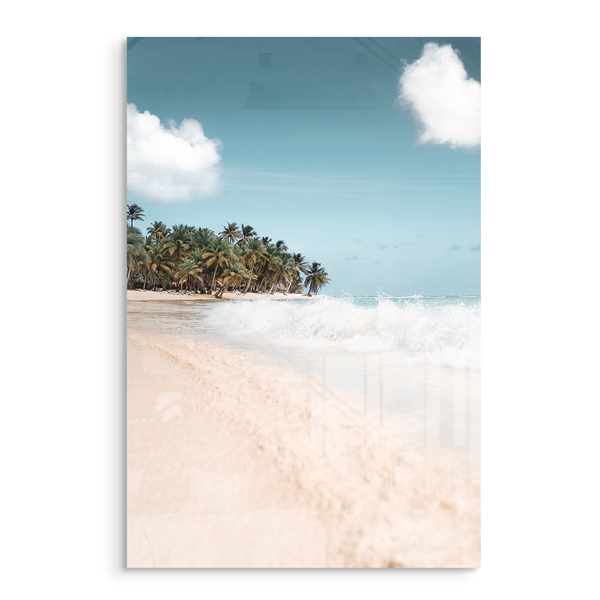 hidden paradise beach acrylic photo print modern wall art