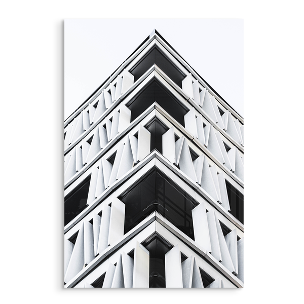 structure modern urban architecture acrylic photo print modern wall art