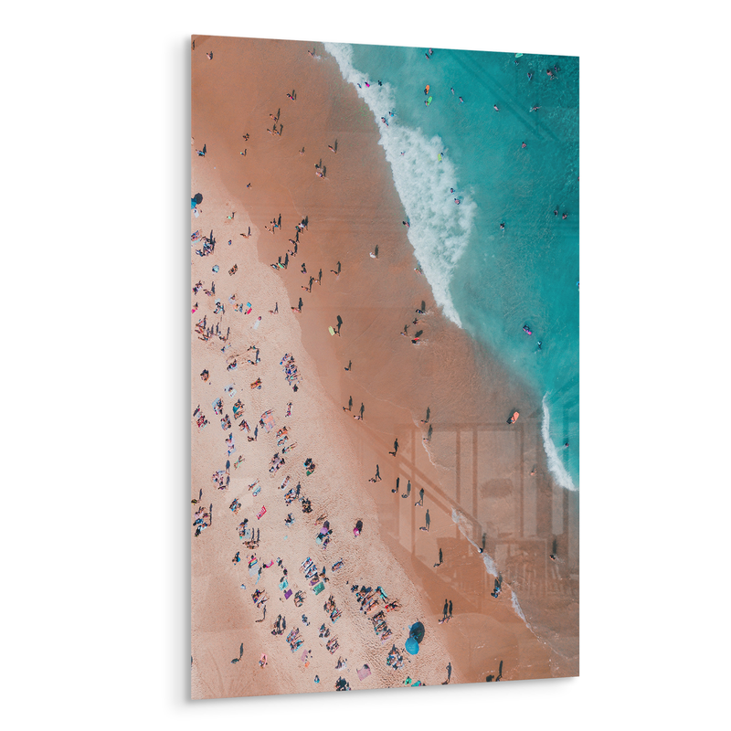 praia beach drone shot above acrylic photo print modern wall art