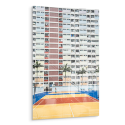 courtyard hong kong building acrylic photo print modern wall art