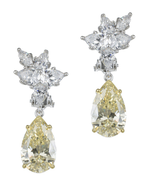 Cluster Drop Pear Earrings