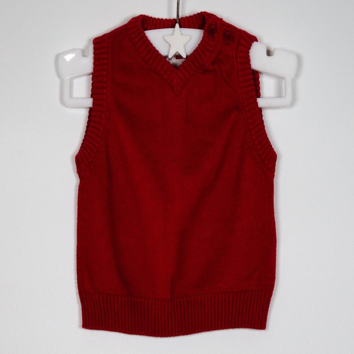 Boys Jumper - 00-03M Sleeveless Jumper