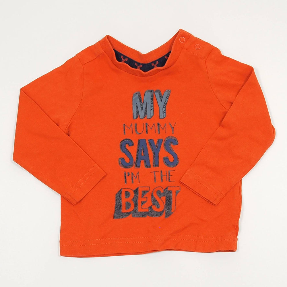 Boys Long Sleeve - 03-06 Mummy Says I'm The Best Long Sleeve