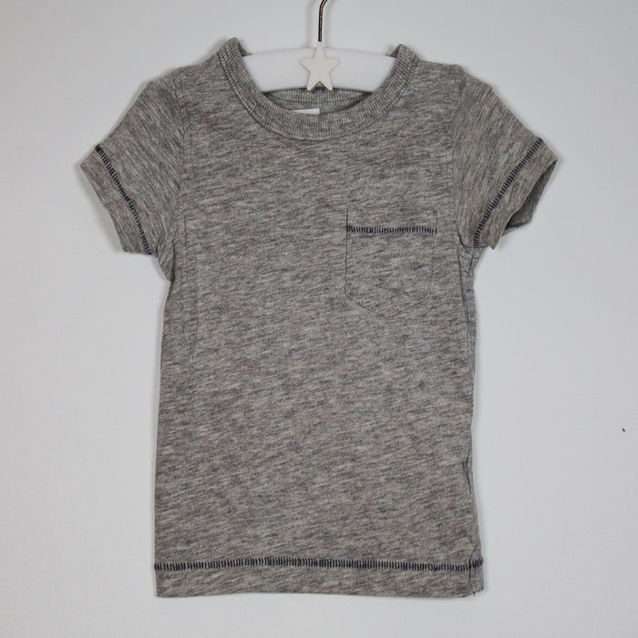 Boys T-shirt - 03-06M Grey T-shirt With Pocket
