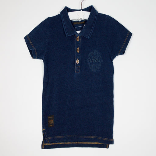 Boys T-shirt - 09-12M Denim Look Poloshirt