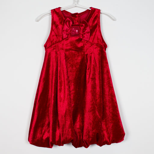 Dress - 6-9M Red Dress With Bow
