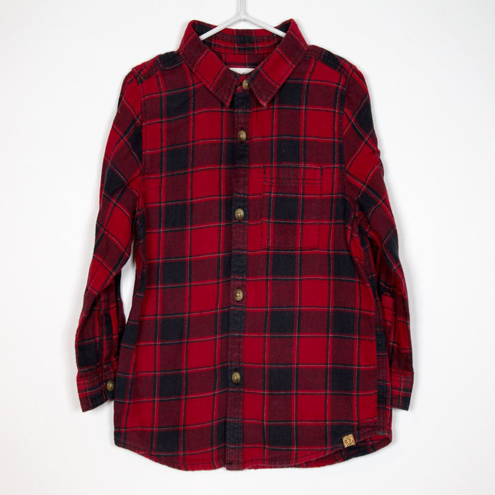 9-12M Red Check Shirt