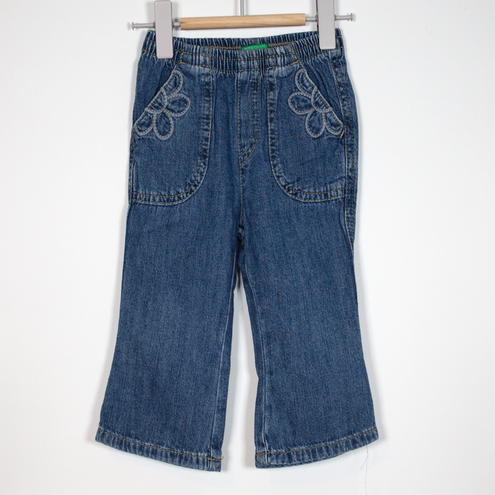 9M Flower Pocket Jeans
