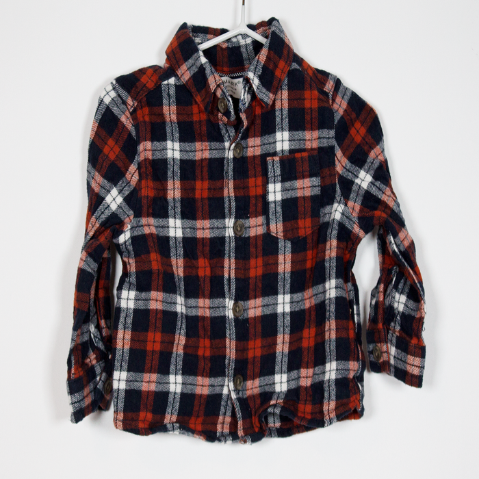 3-6M Check Flannel Shirt