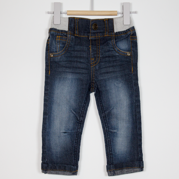 3-6M Pull Up Jeans with Turn Ups