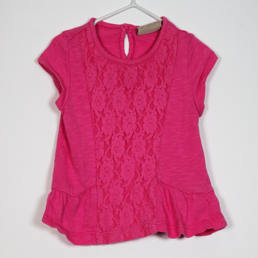3-6M Lace Panel Tee