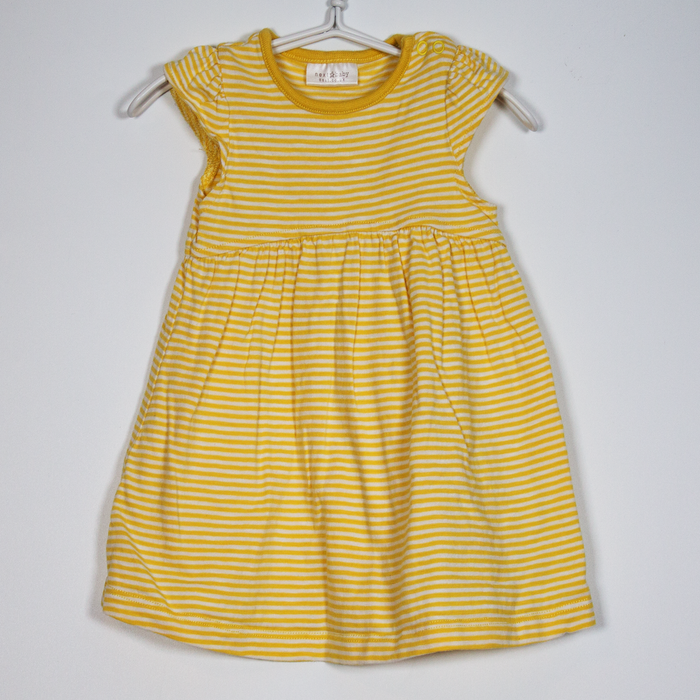 0-3M Yellow Striped Dress