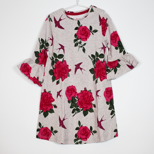 2-3Y Roses & Swallows Dress