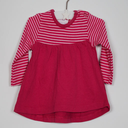 Girls Dress - 00-00M Dark Pink Striped Dress