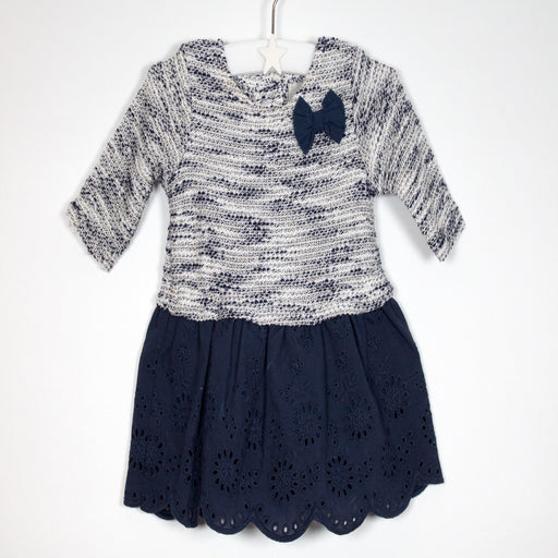 Girls Dress - 00-00M Navy Wool Dress
