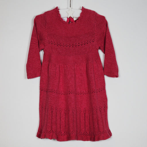 Girls Dress - 00-00M Pink Knit Dress