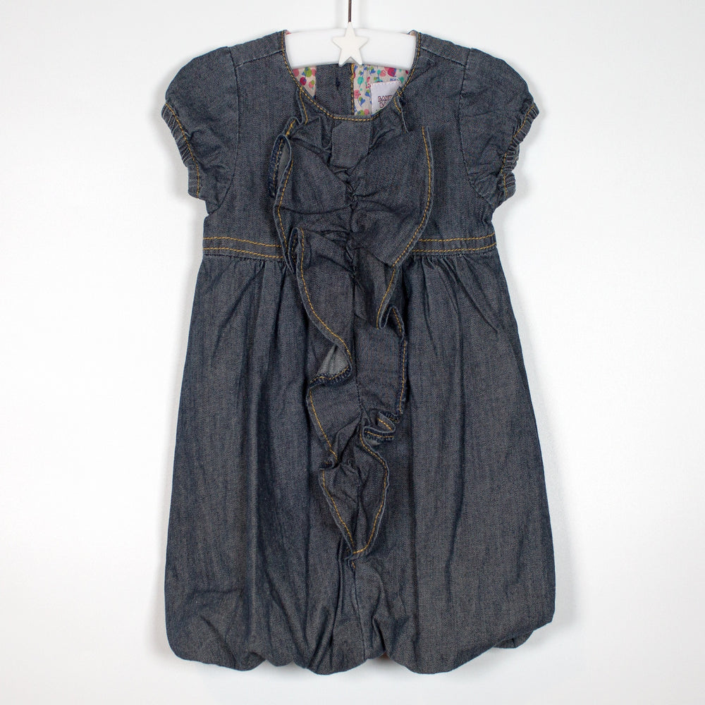 Girls Dress - 03-06M Denim Balloon Dress