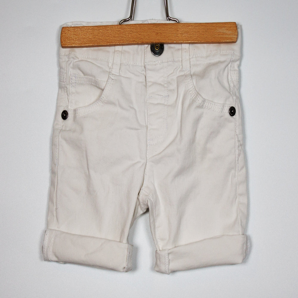 Girls Pants - 06-09M White Shorts
