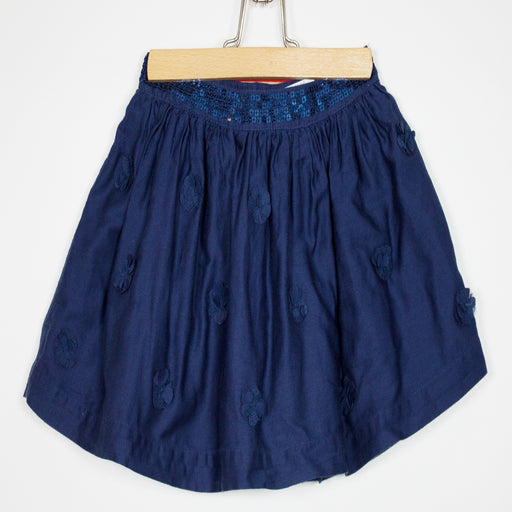 Girls Skirt - 18-24M Navy Flowers Skirt